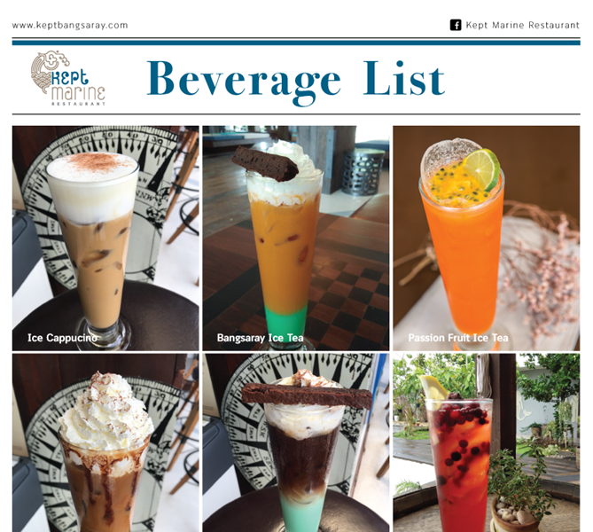 Keptbangsaray Pattaya : เมนูเครื่องดื่ม
